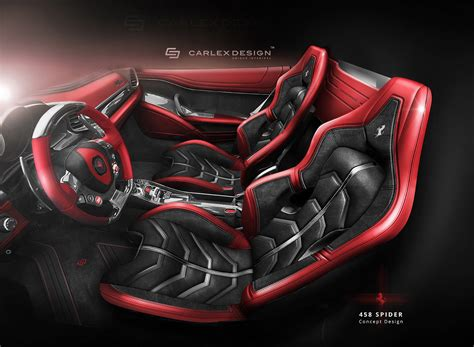Re Upholstery Car Seats Ferrari 458 Spider Concept By Carlex Design Looks Astounding