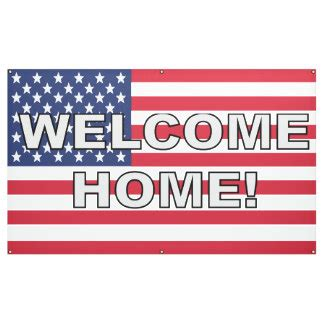 welcome home custom banners signs zazzle