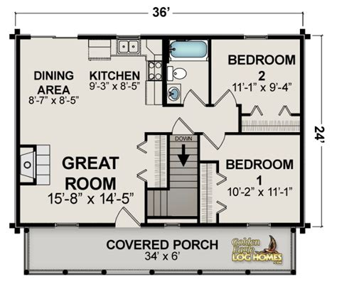 Cabin Floor Plans Under 1000 Square Feet | cottage house plans under 1000 sq ft woodplans