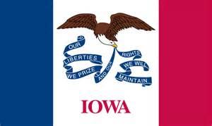 how to draw iowa state flag