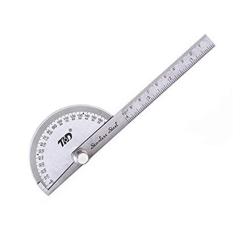 printable 4 inch protractor stainless steel 180 degree protractor angle finder with 4