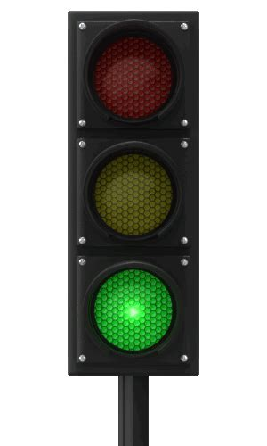 light blinking and green you are at a traffic light with a standard 3 lights