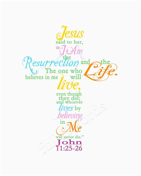 free printable easter quotes easter spring scripture verse john 11 25 digital