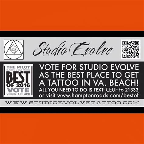 tattoo shops in virginia beach best place to get a vote now studio evolve