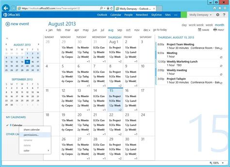 How To Access My Calendar Configuring Delegate Access In Outlook Web App Office Blogs
