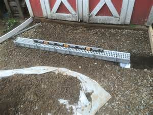 how to install a channel drain a french drain alternative