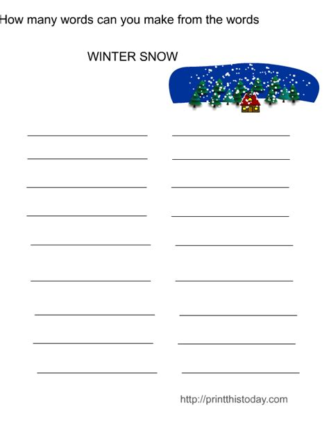 and activities free printable winter activities and puzzles