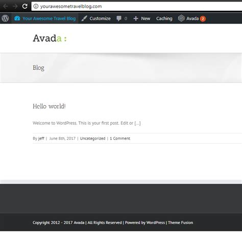 avada theme not installing install a themeforest wordpress theme on your travel blog