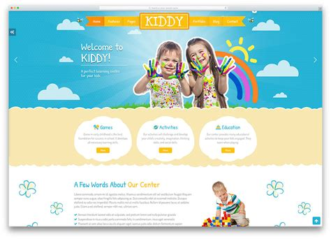 Top 15 Colorful Kindergarten Wordpress Themes 2018 Colorlib Playgroup Website Templates