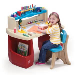 kids activity desk table chair set craft toddler play