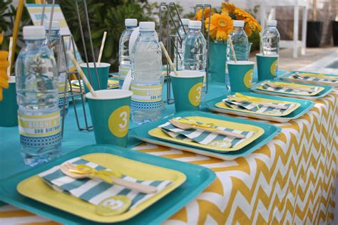 pool party ideas a bright and modern pool party anders ruff custom designs llc