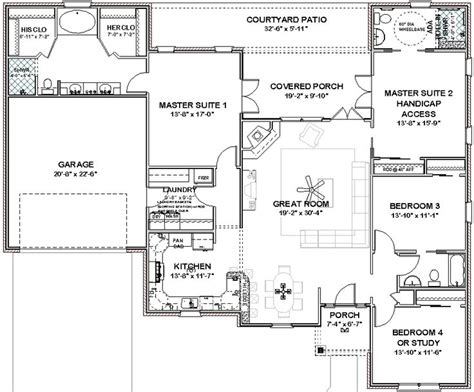 single story house plans with 2 master suites pin by robin wrigley on floor plans pinterest
