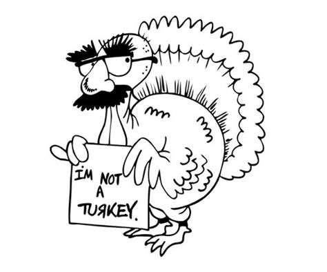 turkey trouble coloring page thanksgiving coloring pages