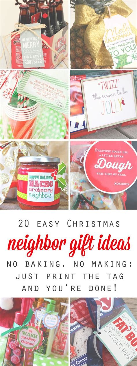 neighbor bake holiday ideas 20 easy and cheap gift ideas for kid printable tags and free printable