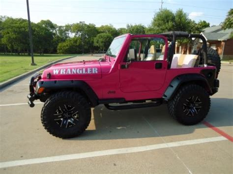 jeep wrangler custom pink purchase used 2002 jeep wrangler custom sport