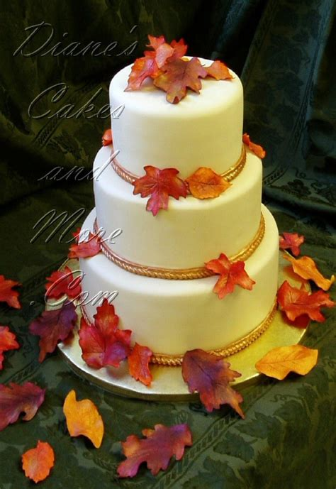 Fall Wedding Cakes by Fall Wedding Cakes Cherry