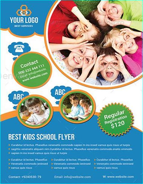 school templates free 20 professional educational psd school flyer templates