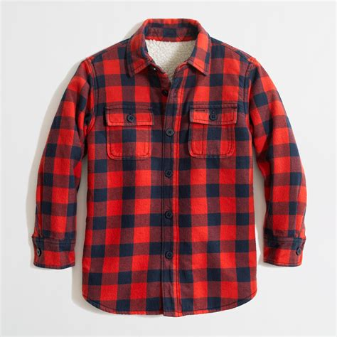 Flanel Jaket factory boys sherpa lined flannel jacket factory