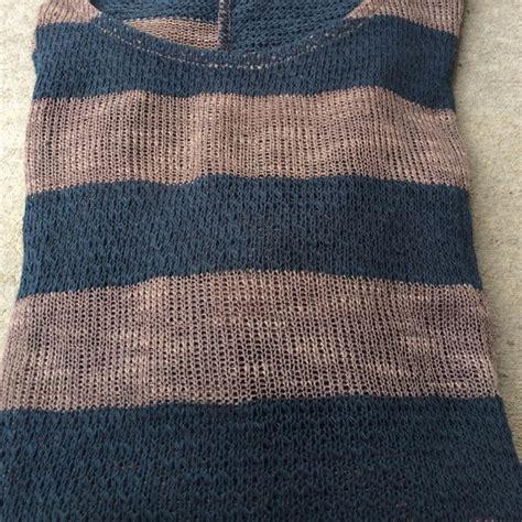 Delia Stripe Tunic Grey 64 tops sale last 1 stunning mocha teal stripe