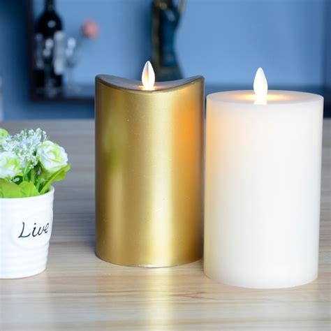 Battery Candles by Paraffin Wax 3d Waterproof Scented Battery Operated