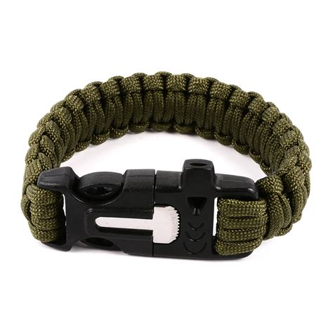 Paracord Survival Bracelet With Magnesium Flint Starter preppers magnesium flint and steel paracord bracelet lighter survival ebay