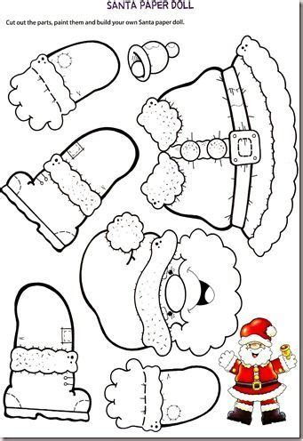 santa claus craft template manichino di babbo natale di carta da usare come addobbo