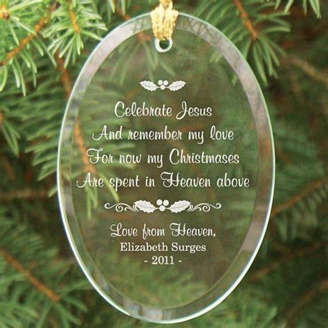 in heaven ornament personalized in heaven glass ornament