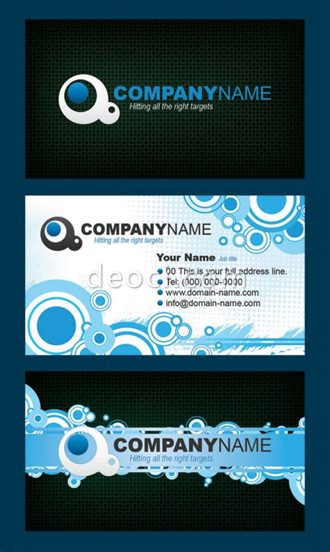 cool flowery pattern business card background design