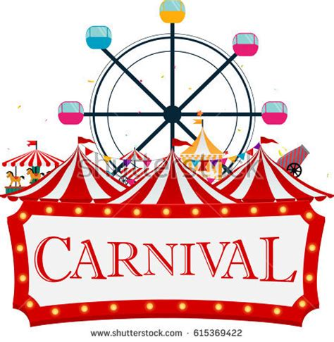 carnival clipart vintage carnival tent pencil and in