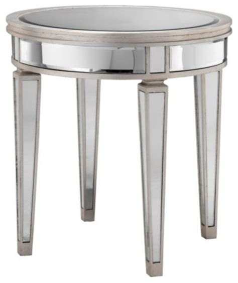 round mirrored accent table round mirror accent table eclectic side tables and end