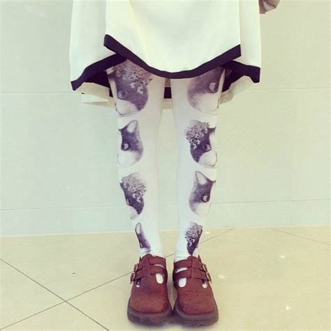 tattoo cat tights kawaii cat tattoo stockings tights on storenvy