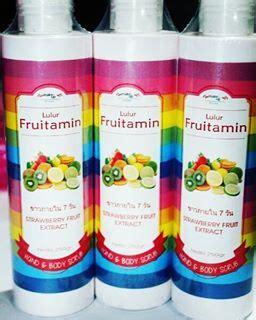 Lulur Badan Fruitamin Bpom Scrub Fruitamin Diskon jual scrub fruitamin lulur untuk badan