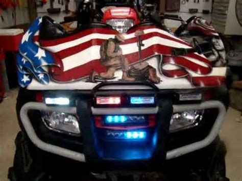 Lavoi S Coolest Atv Police Lights In The World Youtube