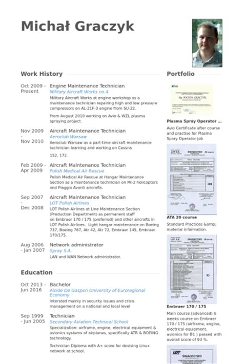 Maintenance Technician Resume Examples by Maintenance Technician Resume Samples Visualcv Resume