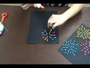 crafty creations 42 q tip fireworks amp cd spinners youtube