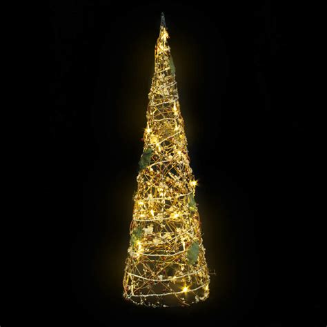 crystal frosted cone ww led 80cm christmas lights displays