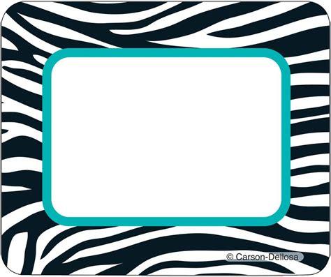 printable zebra name plates wild style name tags cd 150032