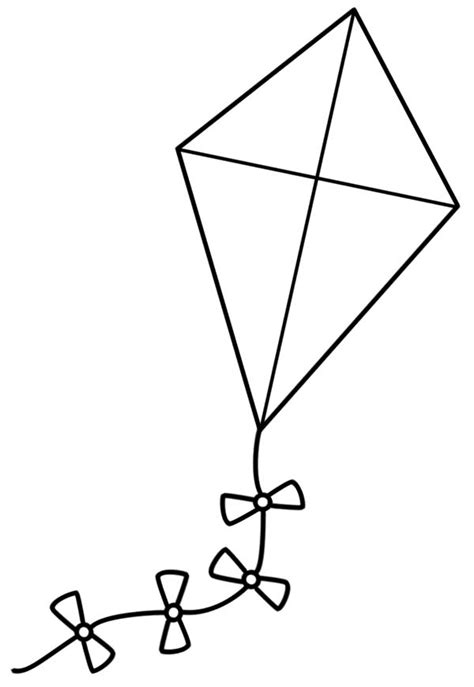 free printable coloring page of a kite kite coloring pages clipart panda free clipart images