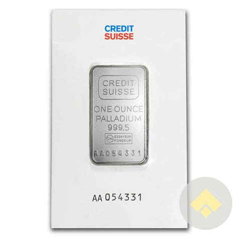 1 Oz Credit Suisse Silver Bars - 1 oz credit suisse palladium bar