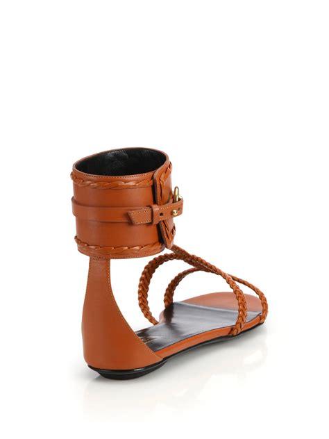 Flat Shoes Gucci Import 1 gucci ursula horsebit braided flat sandals in orange lyst