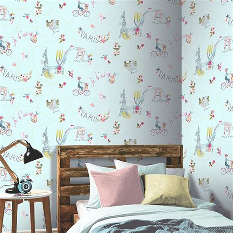 Wallpaper Sticker Dekorasi Shabby Wps 146 wallpaper themed bedroom unicorn glitter chic feature wall new ebay
