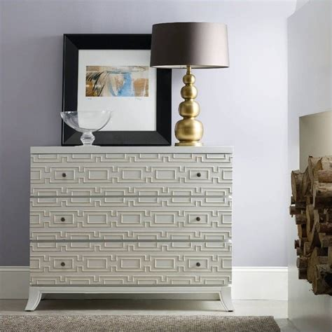 accent chests for living room furniture melange 3 drawer descanso accent chest in brilliant white 638 85098