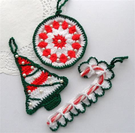 items similar to crochet christmas tree decorations