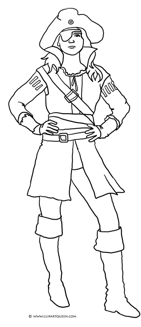 coloring pages girl pirates pirate coloring pages