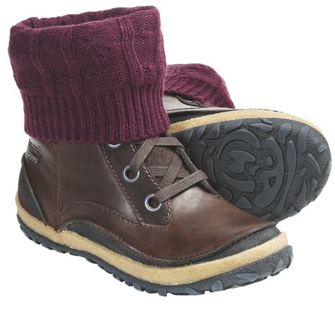 merrell leather boots merrell dauphine boots waterproof grain leather for save 35