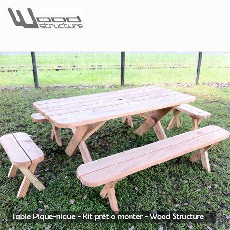 banc de picnic en bois table pique nique banc table de jardin wood structure