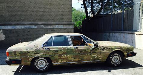 camo maserati bizarre car of the week camo 1984 maserati quattroporte