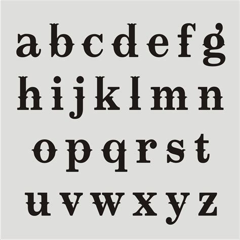 Letter Style 17 different types of fonts alphabetical images