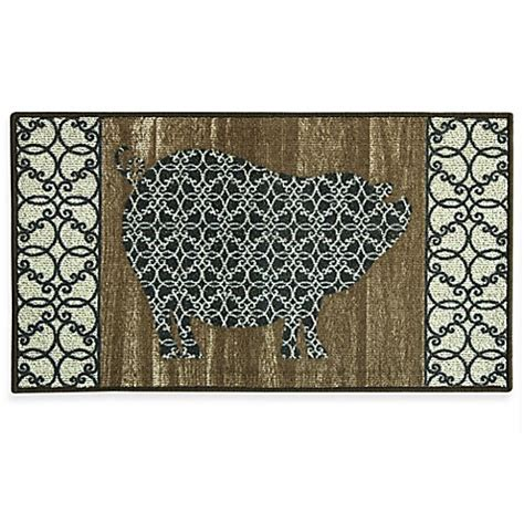 berber kitchen rugs bacova barnyard pig 22 4 inch x 40 inch berber kitchen rug bed bath beyond
