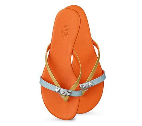 Sandal Hermes Putih 2 corfou hermes sandal in patent leather with 2 quot clous pyramides quot in palladium plated